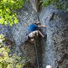 Wild drop knees on crux #1