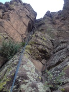 Rock Climbing Photo: The main part of the route showing the vegetation ...