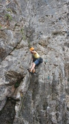Rock Climbing Photo: Konrad, 10 years old, on one of his first climbing...