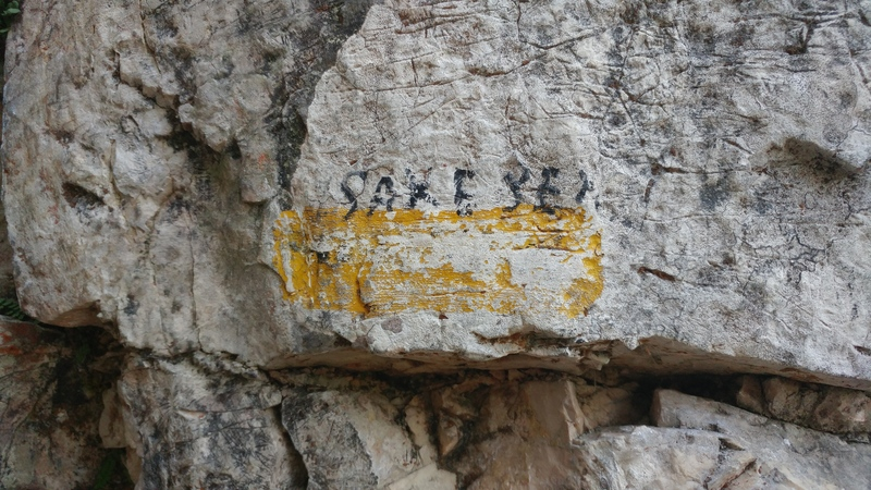 Name painted at base