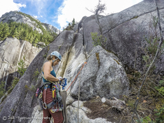 Rock Climbing Photo: Top of pitch 8, start of 9