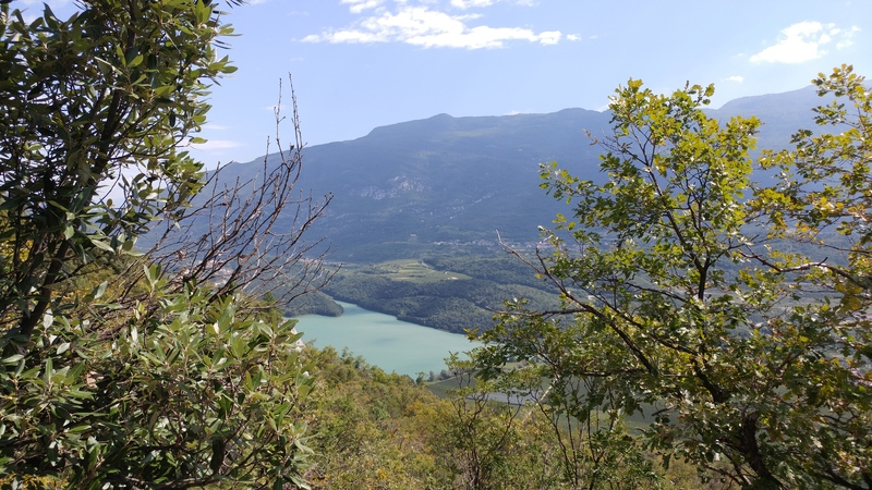View back down to Lago di Toblino