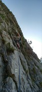 Rock Climbing Photo: Pitch 3 with Moon Bears name painted in white squa...