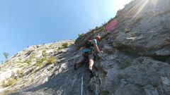Rock Climbing Photo: Steep fun up the long dihedrals