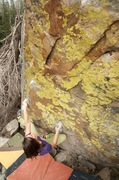 Rock Climbing Photo: Taylor on the colorful problem