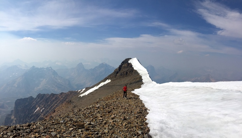 Late summer conditions on summit ridge. Photo by Rob Waye.