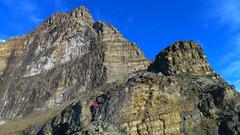 Rock Climbing Photo: Nearing the Big Step.