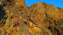 Rock Climbing Photo: Endless 3rd & 4th class scrambling below the Big S...