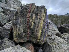 Rock Climbing Photo: Big Yellow Boulder  Red: Seasonal Depression Ye...