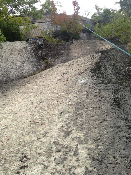 The slabs leading up to the headwall