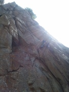 Jesse enters the lower crux section of Come On Sun.