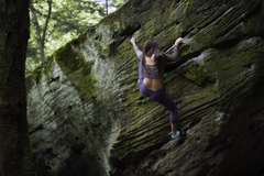 Rock Climbing Photo: Kristen on Ross' Boulder