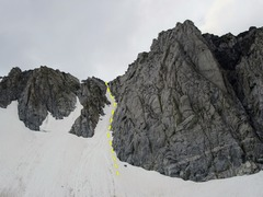 Rock Climbing Photo: Harrington Couloir