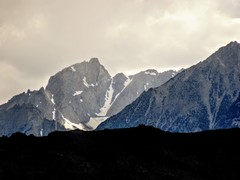 Rock Climbing Photo: The North Couloir of Mt Humphreys as seen on a sto...