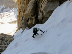 Rock Climbing Photo: Natalie Brechtel soloing near the top of the coulo...