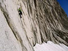 Rock Climbing Photo: Myles Moser leading P1, 5.10d
