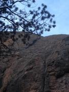 Rock Climbing Photo: The upper part of Dark Matter.