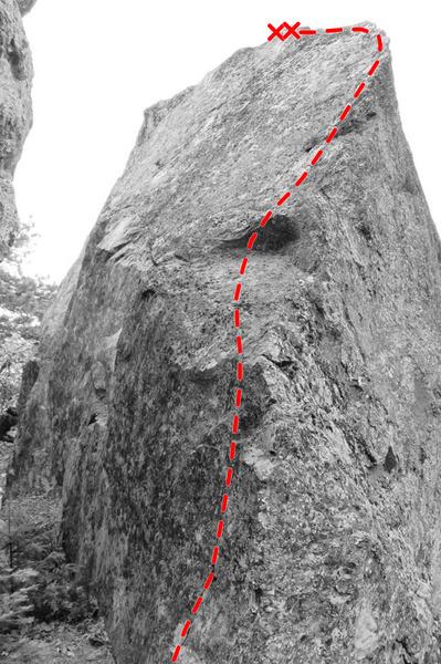 Topo of Cadence's Climb