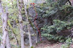 Rock Climbing Photo: Topo of September Rain