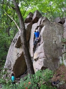Rock Climbing Photo: Gear is small and gets a little better the higher ...