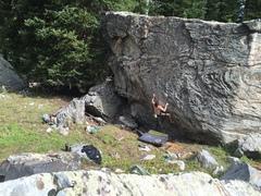 Rock Climbing Photo: M. Abbott on the FA