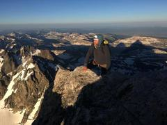 Rock Climbing Photo: Cresting Friction Ridge, Grand Teton