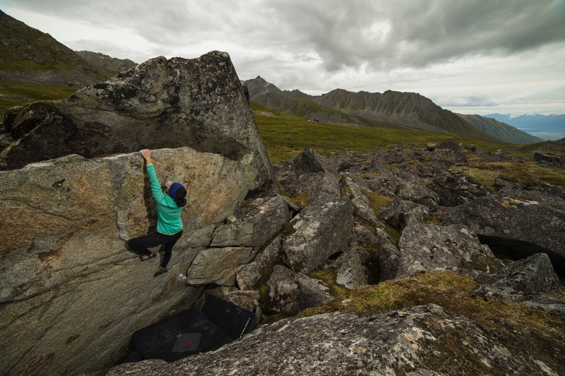 Christie working through the crux on Such Awesome.