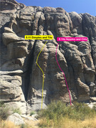 Rock Climbing Photo: 5.10a is right next to the 5.11 Dimples and Tits. ...