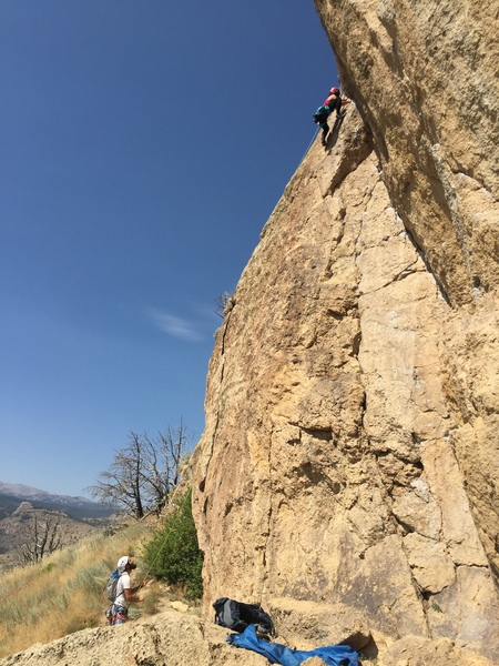 My first 5.7 outdoor climb! There was one part I got confused but it was quite straight forward most of the time.