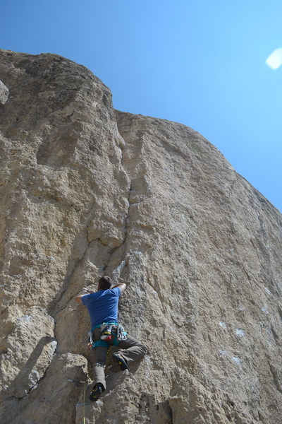 My friend flashed this 5.11a route.