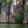 Josh on the tallest climb at the Big Cliffs