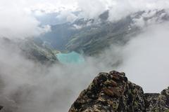 Rock Climbing Photo: Mellano Perego route and Lago Teleccio.