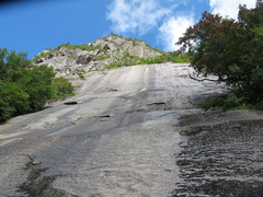 Rock Climbing Photo: Looking up the main slab