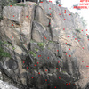 Full photo of the main area north wall. As many anchor points as I could see.