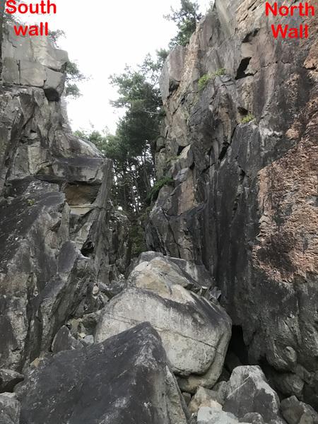 Main climbing area.
