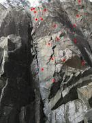 Rock Climbing Photo: Marked Bolts.