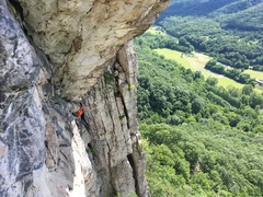 Rock Climbing Photo: This is taken from near the end of pitch 2, lookin...