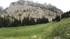 Crags at Wolverine  <br />1: China Wall (no routes currently listed) <br />2: The Nomad Wall <br />3: Sweden <br />4: Denmark  <br />5: Lower Replica  <br />6: The Rain Cave  <br />7: Upper Replica  <br />8: The Bud Wall