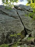 Rock Climbing Photo: Elf Crack (5.8)