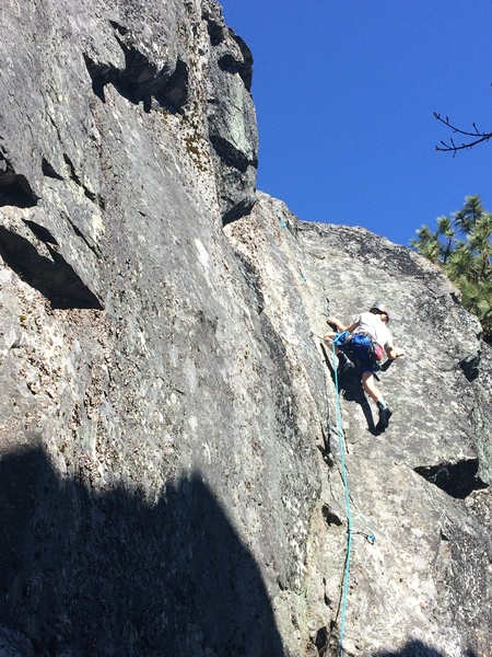 Cadence Brown on the first ascent of The Corner