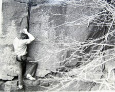 Rock Climbing Photo: Mark Skapyak. Jammermeister in tennies, 1975.