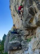 Rock Climbing Photo: Starting up the name sake route!