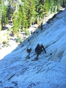 Rock Climbing Photo: Brad and Eva on the approach to Northwest Books, L...