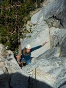 Rock Climbing Photo: Eva on p2, Northwest Books, Lembert Dome