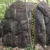 downhill face of 'broiler boulder'