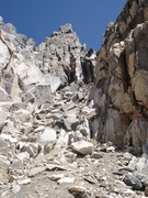 Rock Climbing Photo: The south chute which leads to the ridge.