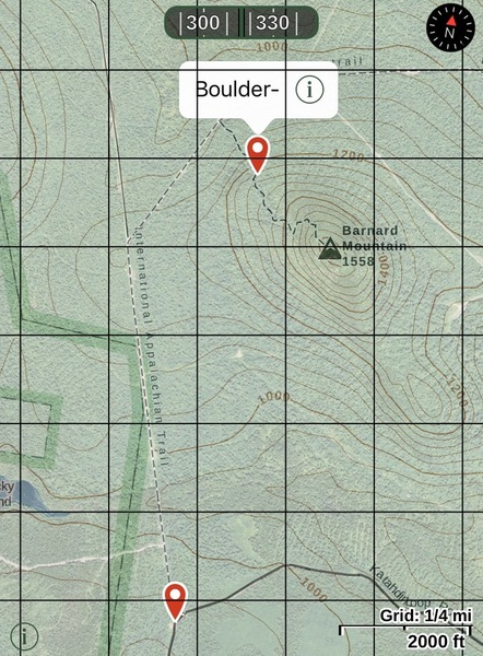 GPS location of split rock