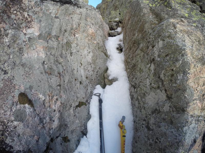 Rock Climbing Photo: The second crux (5/29/2017). Fairly narrow.