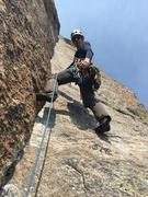 Rock Climbing Photo: Jim at the start of (beautiful) pitch 8.
