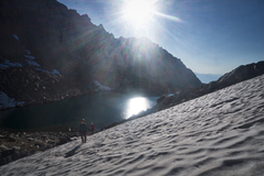 Rock Climbing Photo: Perfect September snow in 2017 - on the approach t...
